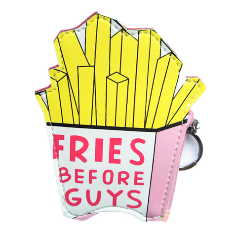 Fries Before Guys Keychain Coin Purse