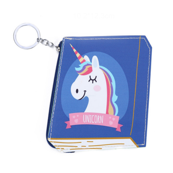 Unicorn Diary Keychain Coin Purse