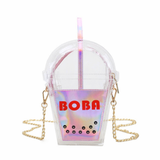 Kawaii Holographic Boba Purse
