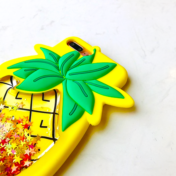 Pineapple Glitter Liquid Phone Case