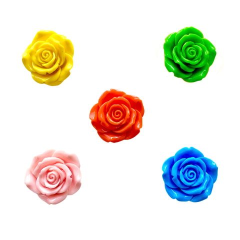 Extra Large Rose Flower Charms