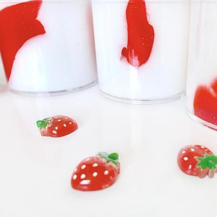 Strawberries & Cream Whipped Butter Slime