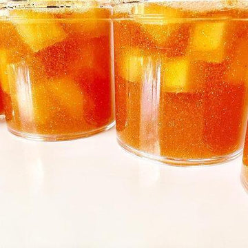 Peach & Yogurt Cup Jelly Cube Slime