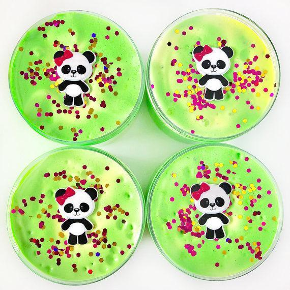 Lucky Panda Whipped Butter Slime