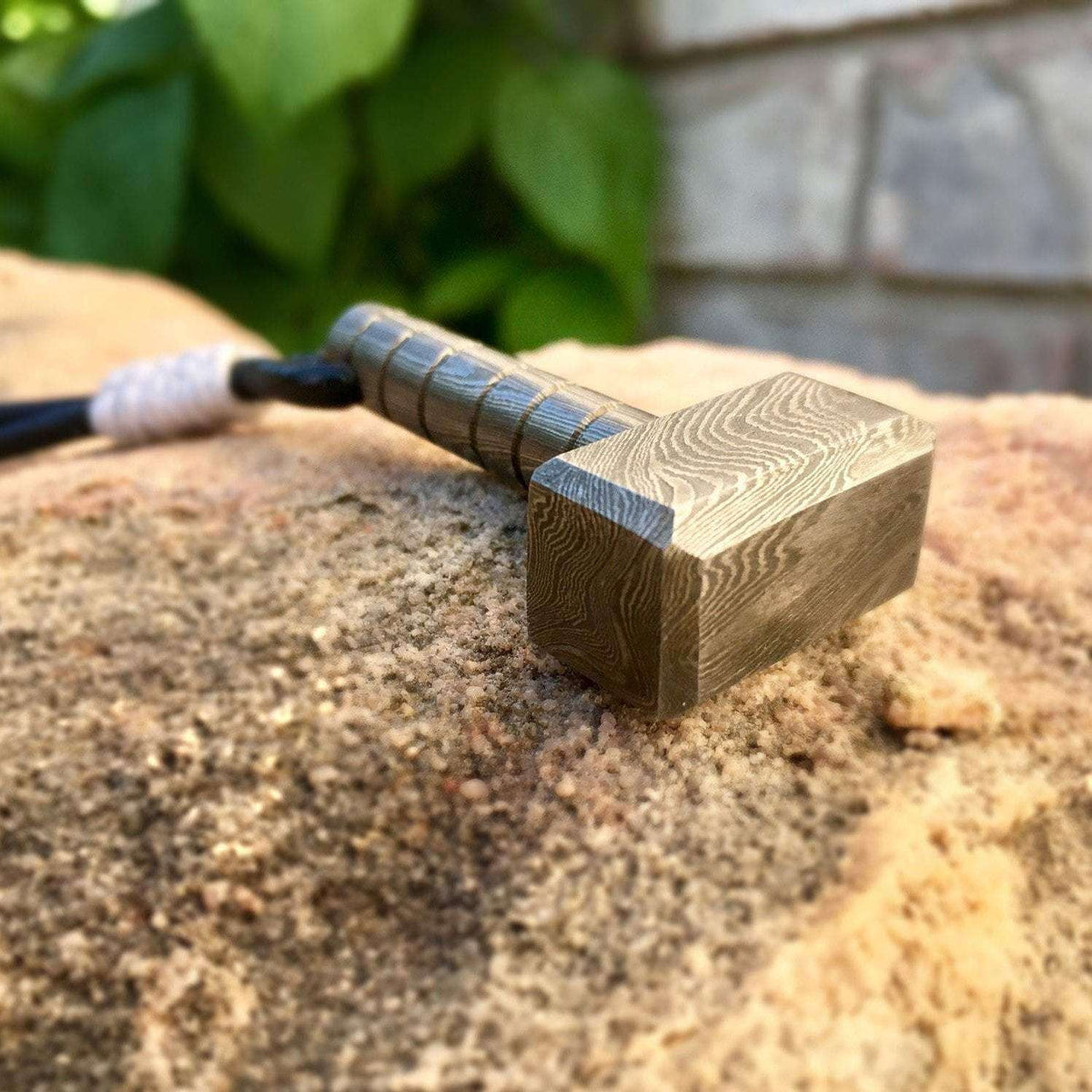 The Thor Damascus Hammer Pendant