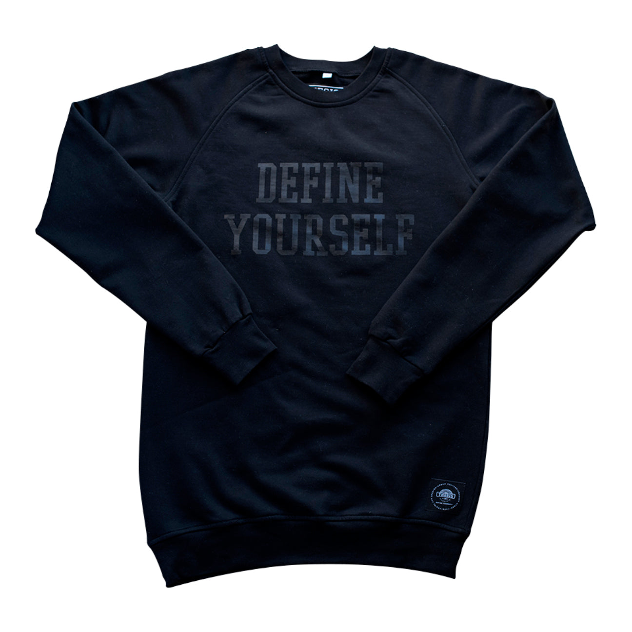 Define Yourself Black on Black Crew Neck