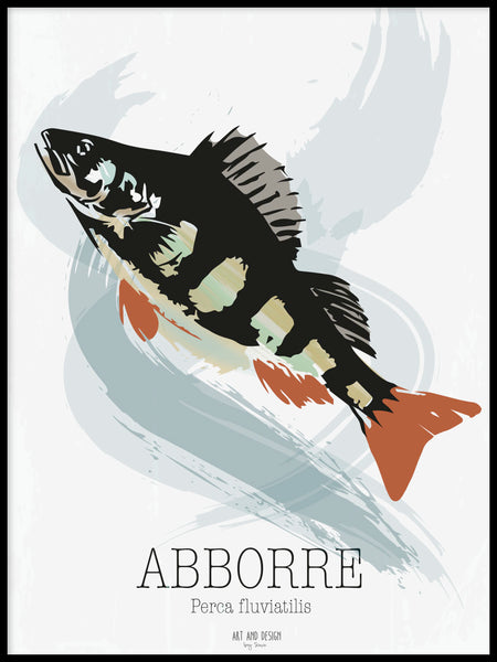 Poster: Abborre, av Art & Design by Sara