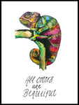 Poster: All colors are beautiful, av Jessica Ahrling