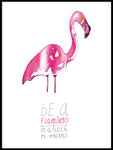 Poster: Be a Flamingo, av Jessica Ahrling