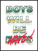 Poster: Boys will be, av Ateljé Enström
