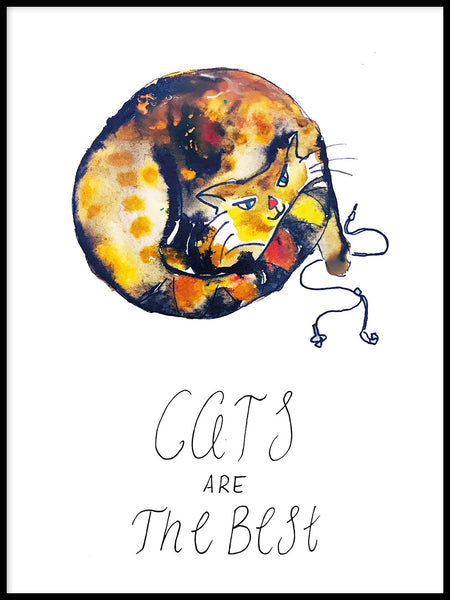 Poster: Cats are the best, av Jessica Ahrling