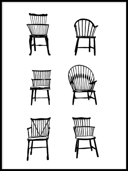 Poster: Chairs, av Sofie Staffans-Lytz