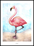 Poster: Chill like a Flamingo - roses, av Ekkoform illustrations