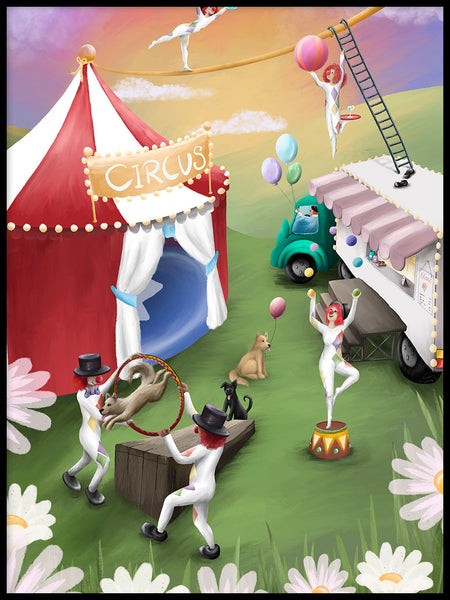Poster: Circus Playland, av Ekkoform illustrations