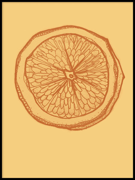 Poster: Citron orange, av Fia-Maria