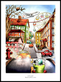 Poster: City Life, av Ekkoform illustrations