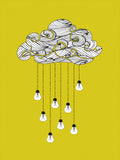 Poster: Cloud Bulb Yellow, av Grafiska huset