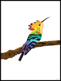 Poster: Colorful Birds #3, av PIEL Design