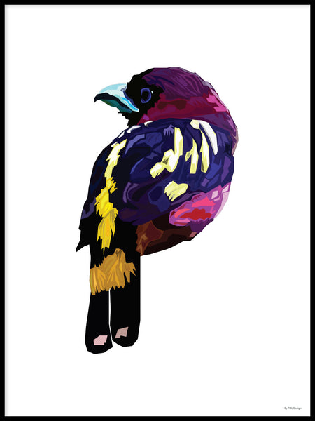 Poster: Colorful Birds #47, av PIEL Design