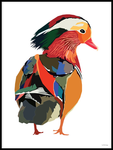 Poster: Colorful Birds #49, av PIEL Design