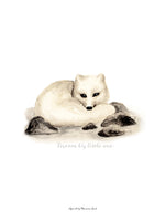 Poster: Dream Big little one (Arctic fox), av Ekkoform illustrations