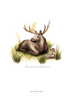 Poster: Dream Big little one (Moose), av Ekkoform illustrations