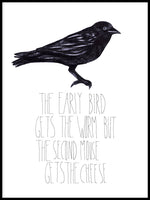 Poster: Early bird, av Sofie Rolfsdotter