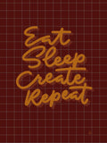 Poster: Eat Sleep Create Repeat, av Fia Lotta Jansson Design