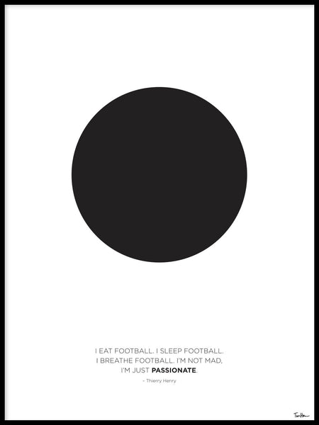 Poster: Eat Sleep Football, av Tim Hansson