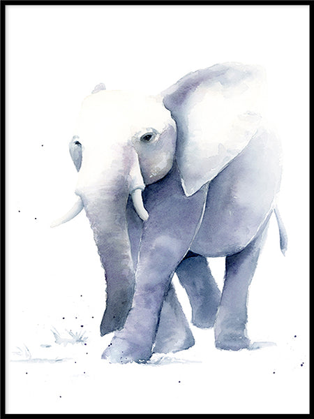 Poster: Elephant, av Cora konst & illustration