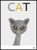 Poster: Fabric Cat, av Paperago