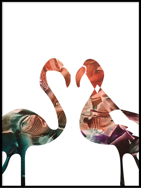 Poster: Flamingo, sunset, av LIWE