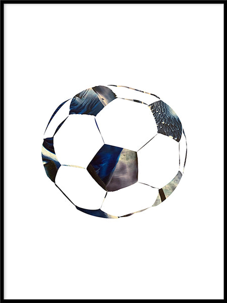 Poster: Football, space, av LIWE