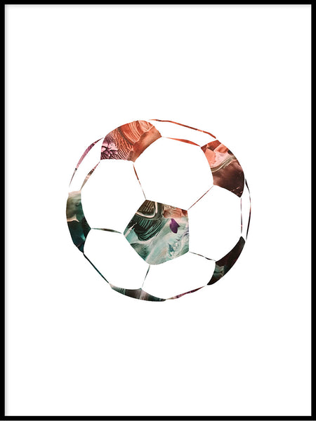 Poster: Football, sunset, av LIWE