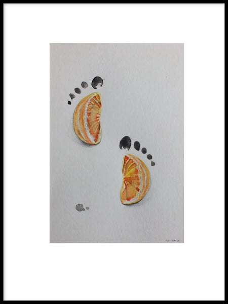 Poster: Footprints, av Sofie Staffans-Lytz