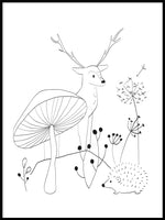 Poster: Forest Animal 1, av Katri Hansson