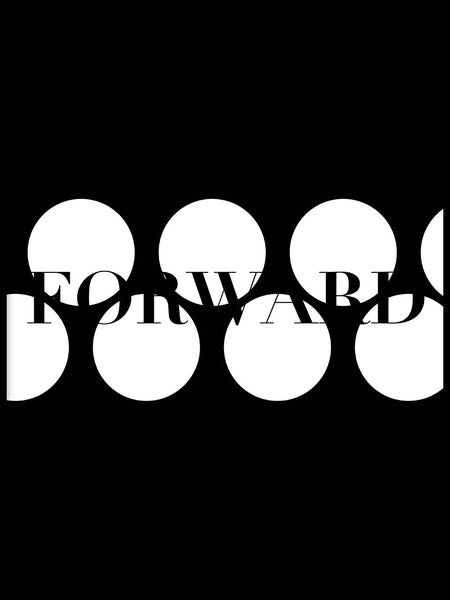 Poster: Forward, black, av Esteban Donoso