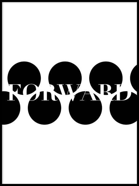 Poster: Forward, white, av Esteban Donoso
