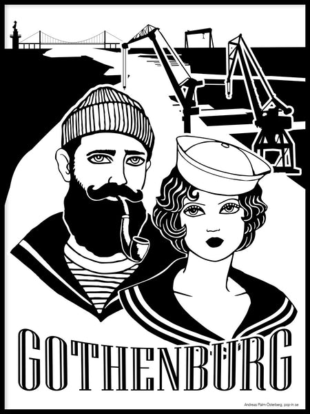 Poster: Gothenburg Sailors, av Pop-in Local graphics