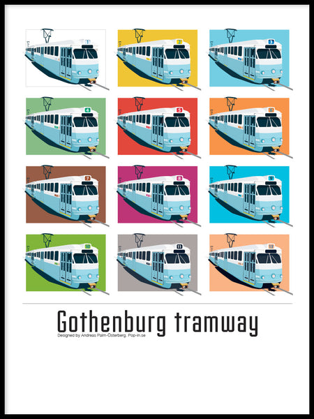 Poster: Gothenburg Tramway, av Pop-in Local graphics