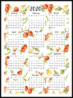 Poster: Harvey English Calendar, av Annas Design & Illustration