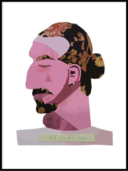 Poster: He cries too, av Engdahldesign