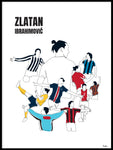 Poster: History of Zlatan, with name and colours, av Tim Hansson
