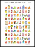 Poster: Home Sweet Home, av Annas Design & Illustration