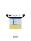 Poster: Korv kiosk, av Pop-in Local graphics