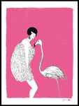 Poster: Lady and flamingo, av Jiashen Han