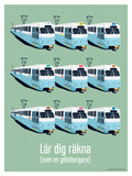 Poster: Lär dig räkna, av Pop-in Local graphics