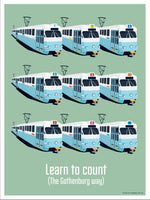 Poster: Learn to count, av Pop-in Local graphics