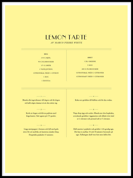 Poster: Lemon Tarte MPW, av The Wall Cookbook