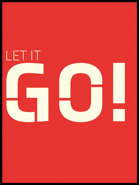 Poster: Let it go, red, av Esteban Donoso